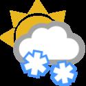 Parcialmente nuboso y nevadas