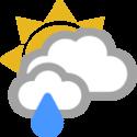 Nublado y lluvia ligera