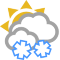 Mākoņains un gāzienveida sniegs