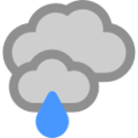 Cubierto y lluvia ligera