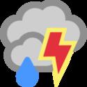Zataženo, bouřky s deštěm