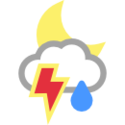 Μερικώς νεφελώδης, πιθανοί τυφώνες με βροχόπτωση