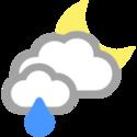 Zachmurzenie i małe opady deszczu