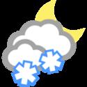Wolkig und Schneeschauer