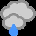 Bedeckt und leichter Regen