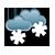 Pilvistä, ajoittaista lumisadetta