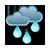 Pilvistä, runsasta sadetta