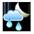 Puolipilvistä, ajoittain sadetta