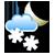 Puolipilvistä, ajoittaista lumisadetta