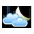Melko pilvistä ja poutaa