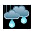 Pilvistä, ajoittaista sadetta